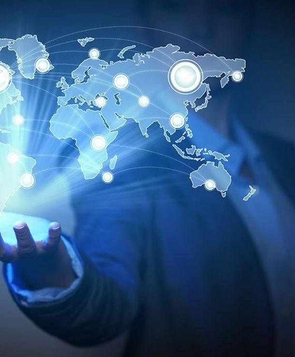 bigstock-Blue-global-technology-backgro-39420829